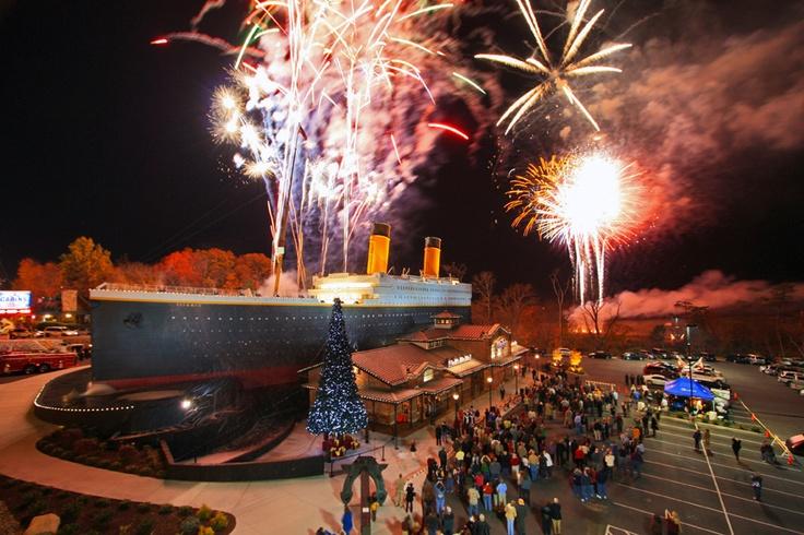 titanic fireworks